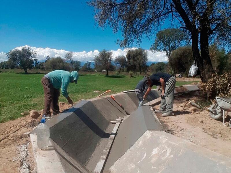 Revestimiento en canales de riego Tlaxcala CFE